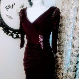 Womens Adrianna Papell Holiday Dress Sz 4